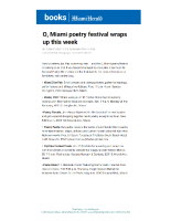 2015-04-25 Miami Herald (Poetry Paella Event)