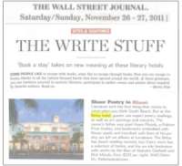 2011-11-27 Wall Street Journal – The Write Stuff