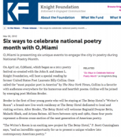 2012.03.30 Knight Foundation, National Poetry Month