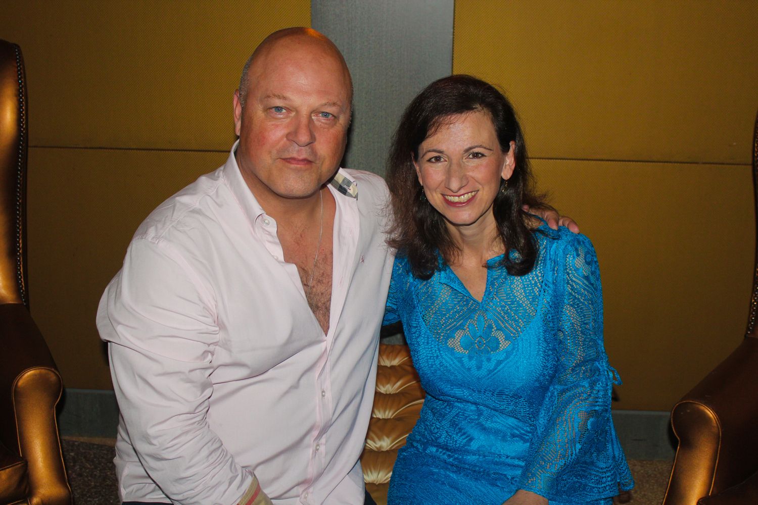 Actor Michael Chiklis with D.J. Niko