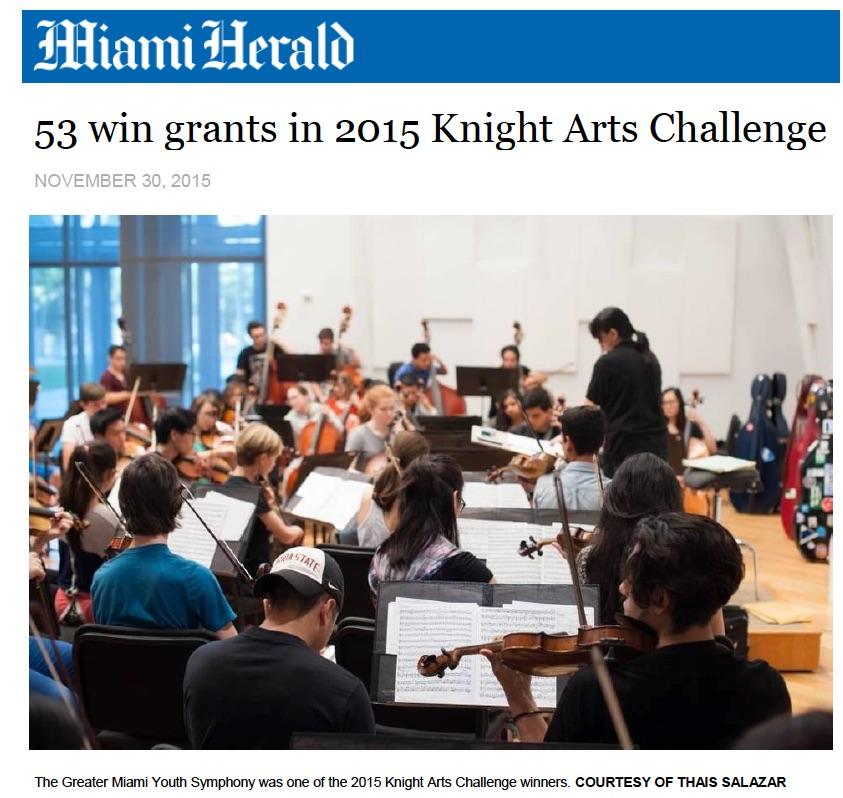 Miami Herald Knight Arts Challenge Winners