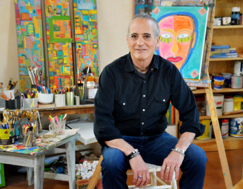 Steven Snyder in his studio